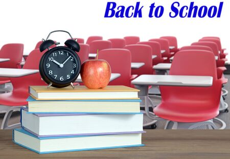 books and back to school concept against white wall Banque d'images - 137146189