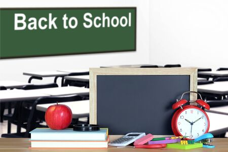 Back to School concept with classroom and book
