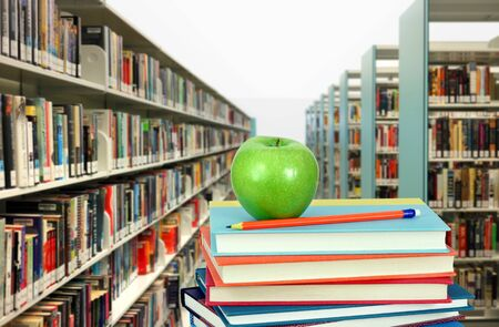 book and library for education concept (blurry background) Banque d'images - 137133435