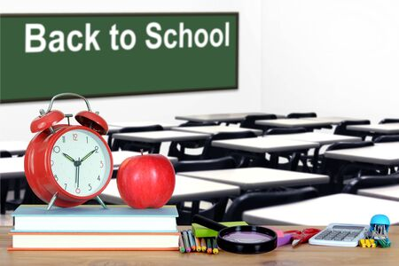 Back to School concept with classroom and book Banque d'images - 137134753