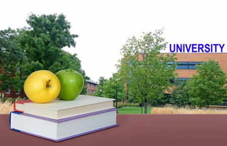 An education concept with book and blury background