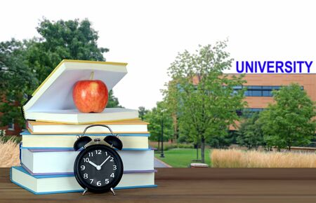 An education concept with book and blury background Banque d'images - 137146244