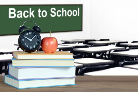 Back to School concept with classroom and book Banque d'images - 137135001