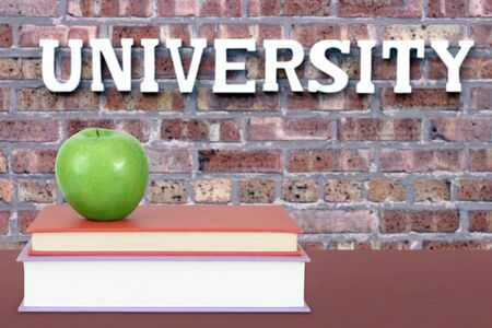book and university for an education concept Banque d'images - 137146258