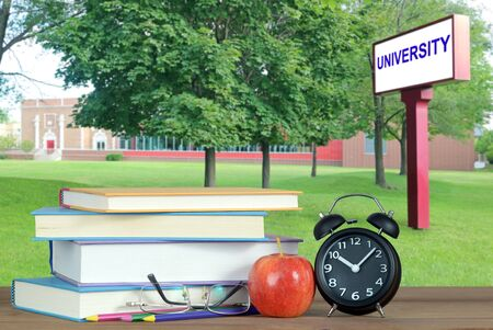 Book and campus of university for education concept Banque d'images - 137146262