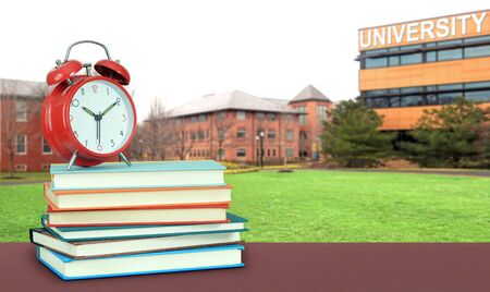 a composition with university campus and book for education concept Banque d'images - 137146313