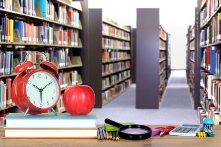 an education concept composition with blur background