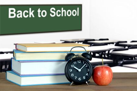 Back to School concept with classroom and book Banque d'images - 137134666