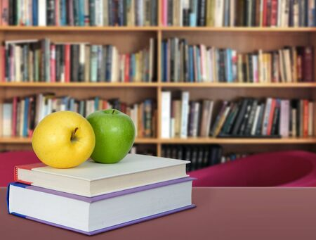 Books decoration for Library and Education concept Banco de Imagens