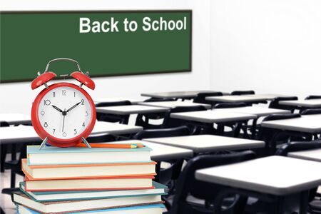 Back to School concept with classroom and book Banque d'images - 137134715