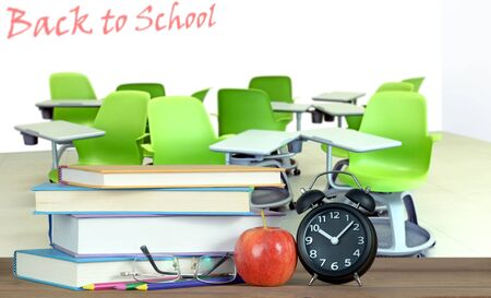 random chair in the classroom for Back to School concept Banque d'images - 137146331