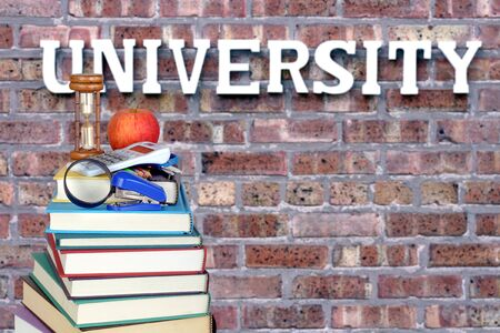 book and university for an education concept Banque d'images - 137134792