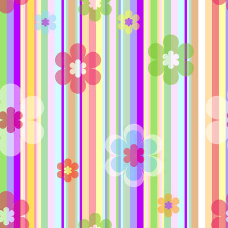 rayas: Pastel sin Vector floral background