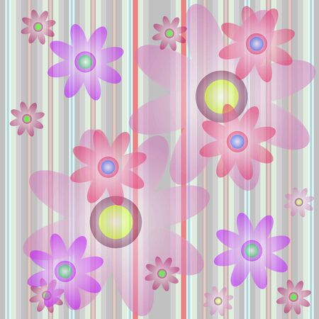 background of a cell with color flower Illustration
