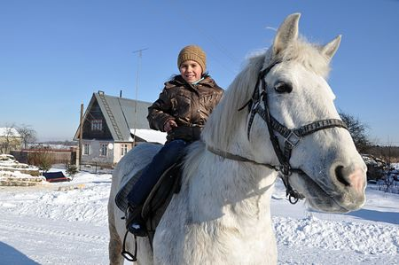 Walk astride a horse