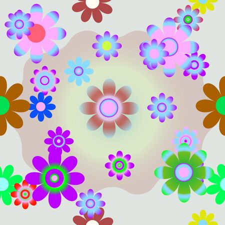 Vector a background with flowers