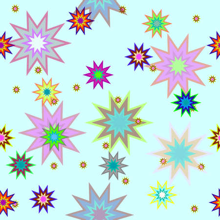Vector seamless  with stars