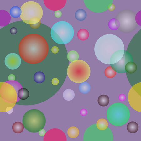 Vector seamless  with circles Illustration