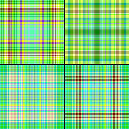 Set green vectors seamless cell background