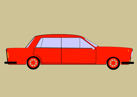 Colorful toy car Illustration