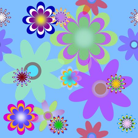 flower line: seamless background with flowers