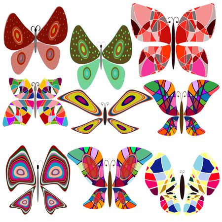 morpho: Set butterfly on white