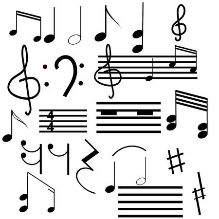 simbolos musicales: Colecci�n de s�mbolos musicales