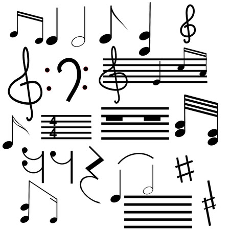 musical instrument parts: Collection of musical symbols