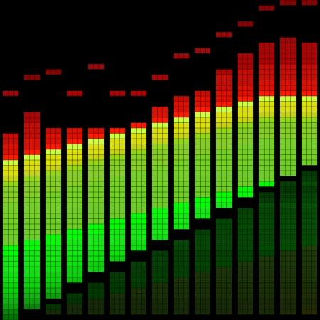 equalize: Vector illustration of a graphic equalizer or limiter Illustration