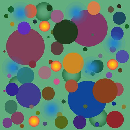 vector pattern with another decorative multi collor circles