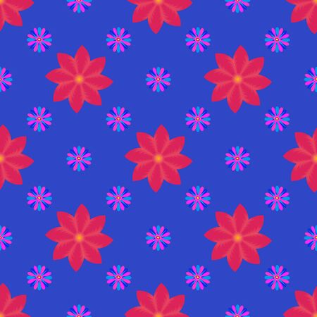 Seamless background with multi colors flowers