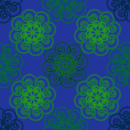 constructional: Seamless geometric illustration on green-blue background