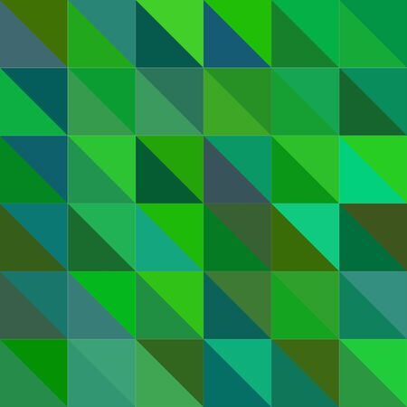 Seamless abstract modern geometric green background illustration