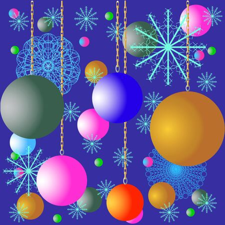 Abstract backgraund with snowflake and collor circles