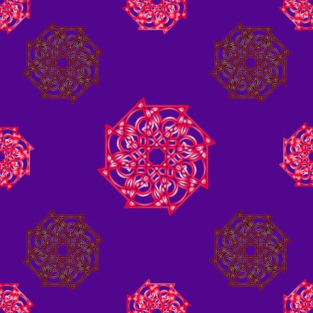 constructional: Seamless geometric vector illustration on blue background Illustration