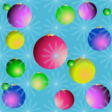 vector seamless abstract backgraund with snowflake and collor circles