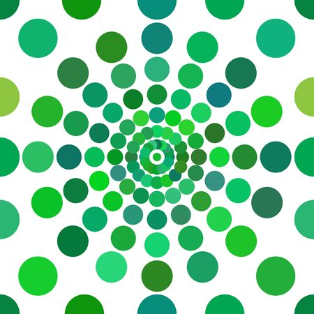 Green and multi-collors dots seamless pattern on white backgraund