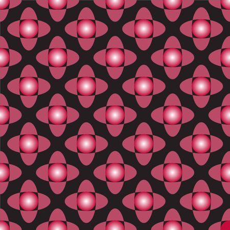 vector pattern with another decorative red circles and geometric elements Illustration