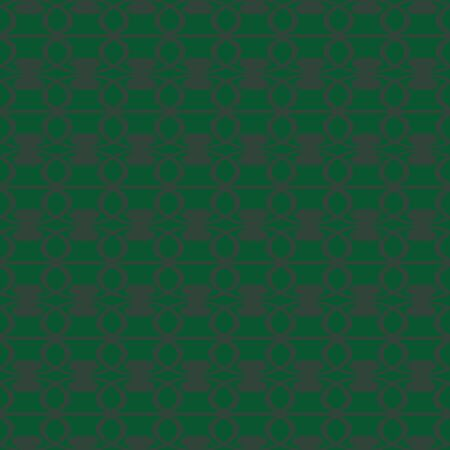 Vector seamless green ornament background and geometric pattern