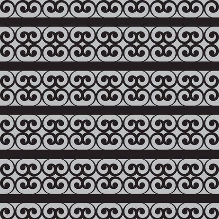 strip design: seamless black ornament background and geometric pattern