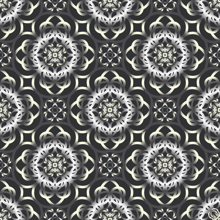 seamless grey ornament background and geometric pattern
