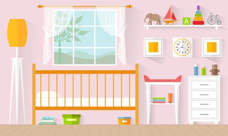 Das Konzept des Innenraums des Kindergartens Standard-Bild - 87439844