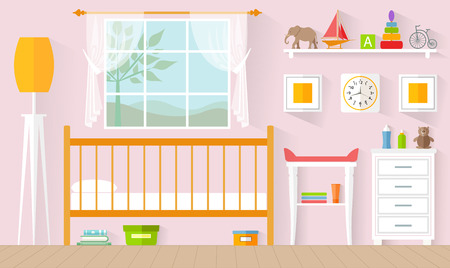 The concept of the interior of the nursery Stock Illustratie