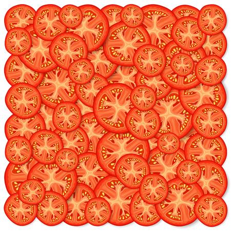 Sliced tomatoes icon. Illustration