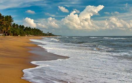 Evening at the Sri Lanka ocean beach photo