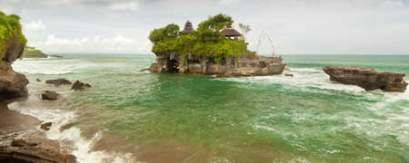 Balinese Tanah Lot temple, famous touristic place photo