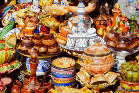 Traditional moroccan earthenware at Safi photo