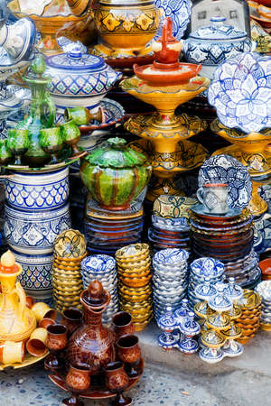 Traditional moroccan pottery at Safi photo