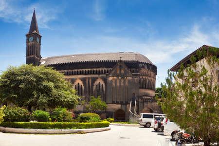 Panorama da catedral anglicana Igreja de Cristo, Stone Town, Zanzibar, Tanz Banco de Imagens