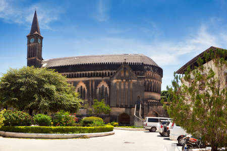 Panorama of Anglican cathedral Christ Church, Stone Town, Zanzibar, Tanzania photo
